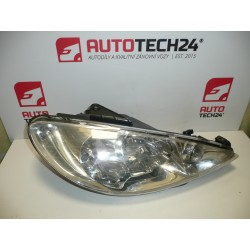 P headlight PEUGEOT 206 H7 + H7 9628666780 6205S9