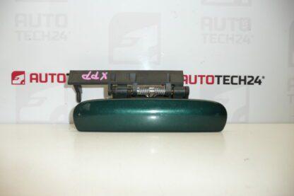 Right front door handle CITROEN XSARA green metallic 9101N3