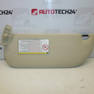 Sun visor CITROEN C4 right passenger 8143JL