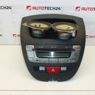 Car radio with CD CITROEN C1 PEUGEOT 107 with speaker